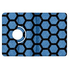 Hexagon2 Black Marble & Blue Colored Pencil (r) Kindle Fire Hdx Flip 360 Case by trendistuff