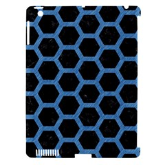 Hexagon2 Black Marble & Blue Colored Pencil Apple Ipad 3/4 Hardshell Case (compatible With Smart Cover) by trendistuff