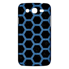 Hexagon2 Black Marble & Blue Colored Pencil Samsung Galaxy Mega 5 8 I9152 Hardshell Case  by trendistuff
