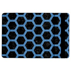 Hexagon2 Black Marble & Blue Colored Pencil Apple Ipad Air 2 Flip Case by trendistuff