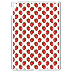 Fresh Bright Red Strawberries on White Pattern Apple iPad Pro 9.7   White Seamless Case