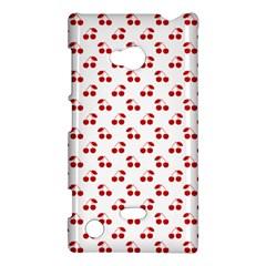 Red Cherries On White Pattern   Nokia Lumia 720