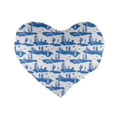 Tear In The Space Time Continuum Standard 16  Premium Flano Heart Shape Cushions by emilyzragz