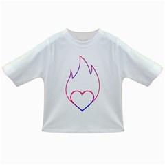 Heart Flame Logo Emblem Infant/toddler T Shirts