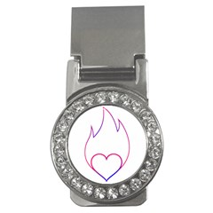 Heart Flame Logo Emblem Money Clips (cz)  by Nexatart