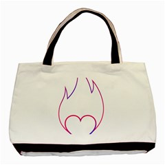 Heart Flame Logo Emblem Basic Tote Bag by Nexatart