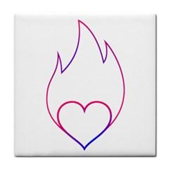 Heart Flame Logo Emblem Face Towel