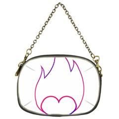 Heart Flame Logo Emblem Chain Purses (one Side)  by Nexatart