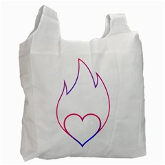 Heart Flame Logo Emblem Recycle Bag (one Side) by Nexatart
