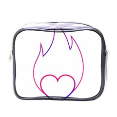 Heart Flame Logo Emblem Mini Toiletries Bags