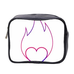 Heart Flame Logo Emblem Mini Toiletries Bag 2 Side by Nexatart