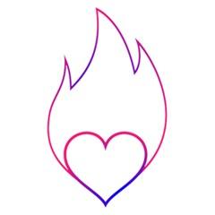 Heart Flame Logo Emblem 5 5  X 8 5  Notebooks by Nexatart