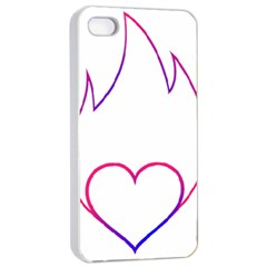 Heart Flame Logo Emblem Apple Iphone 4/4s Seamless Case (white) by Nexatart