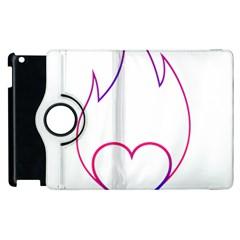 Heart Flame Logo Emblem Apple Ipad 2 Flip 360 Case by Nexatart