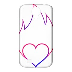 Heart Flame Logo Emblem Samsung Galaxy S4 Classic Hardshell Case (pc+silicone) by Nexatart