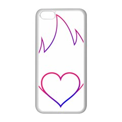Heart Flame Logo Emblem Apple Iphone 5c Seamless Case (white) by Nexatart
