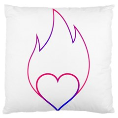 Heart Flame Logo Emblem Large Flano Cushion Case (two Sides)
