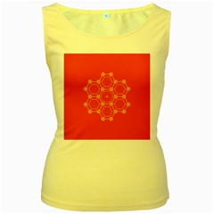 Pentagon Cells Chemistry Yellow Women s Yellow Tank Top