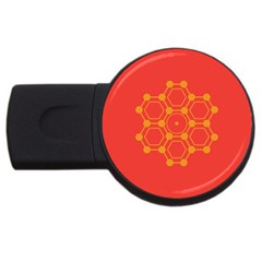 Pentagon Cells Chemistry Yellow Usb Flash Drive Round (2 Gb)