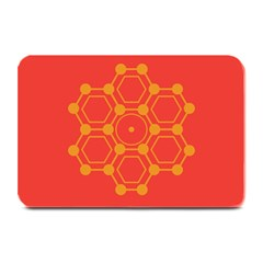 Pentagon Cells Chemistry Yellow Plate Mats by Nexatart