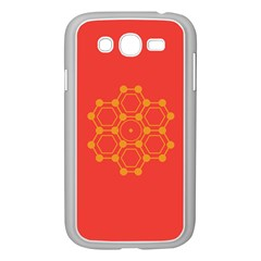 Pentagon Cells Chemistry Yellow Samsung Galaxy Grand Duos I9082 Case (white)