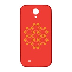 Pentagon Cells Chemistry Yellow Samsung Galaxy S4 I9500/i9505  Hardshell Back Case