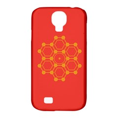 Pentagon Cells Chemistry Yellow Samsung Galaxy S4 Classic Hardshell Case (pc+silicone) by Nexatart