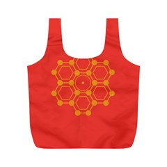 Pentagon Cells Chemistry Yellow Full Print Recycle Bags (m)