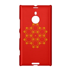 Pentagon Cells Chemistry Yellow Nokia Lumia 1520 by Nexatart