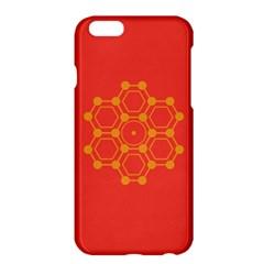 Pentagon Cells Chemistry Yellow Apple Iphone 6 Plus/6s Plus Hardshell Case