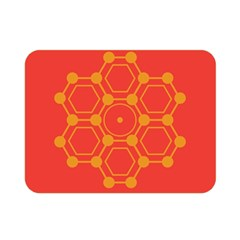 Pentagon Cells Chemistry Yellow Double Sided Flano Blanket (mini)  by Nexatart