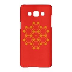 Pentagon Cells Chemistry Yellow Samsung Galaxy A5 Hardshell Case  by Nexatart