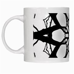 Pattern Abstract Fractal White Mugs by Nexatart
