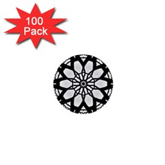 Pattern Abstract Fractal 1  Mini Buttons (100 Pack)