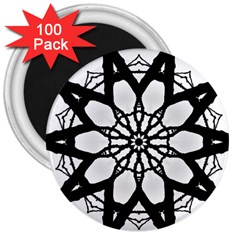 Pattern Abstract Fractal 3  Magnets (100 Pack)