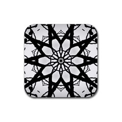 Pattern Abstract Fractal Rubber Square Coaster (4 Pack)
