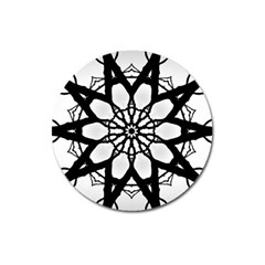 Pattern Abstract Fractal Magnet 3  (round) by Nexatart