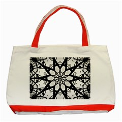 Pattern Abstract Fractal Classic Tote Bag (red)