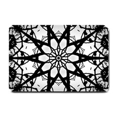 Pattern Abstract Fractal Small Doormat  by Nexatart