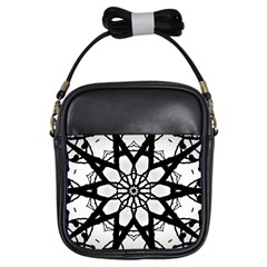 Pattern Abstract Fractal Girls Sling Bags
