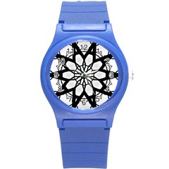 Pattern Abstract Fractal Round Plastic Sport Watch (s) by Nexatart
