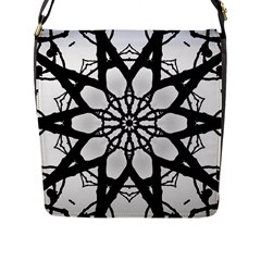 Pattern Abstract Fractal Flap Messenger Bag (l)  by Nexatart