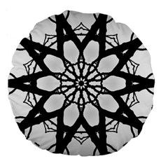 Pattern Abstract Fractal Large 18  Premium Flano Round Cushions by Nexatart