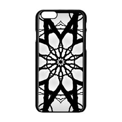 Pattern Abstract Fractal Apple Iphone 6/6s Black Enamel Case