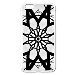 Pattern Abstract Fractal Apple Iphone 6 Plus/6s Plus Enamel White Case by Nexatart