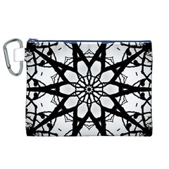Pattern Abstract Fractal Canvas Cosmetic Bag (xl) by Nexatart