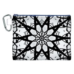 Pattern Abstract Fractal Canvas Cosmetic Bag (xxl) by Nexatart
