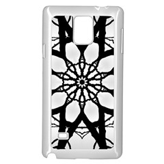 Pattern Abstract Fractal Samsung Galaxy Note 4 Case (white)