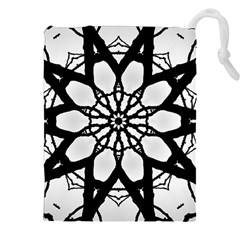 Pattern Abstract Fractal Drawstring Pouches (xxl) by Nexatart