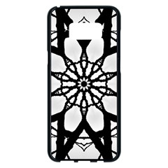 Pattern Abstract Fractal Samsung Galaxy S8 Plus Black Seamless Case